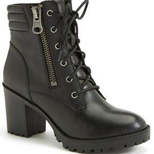 steve madden black noodless leather boots 7